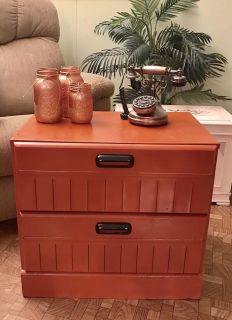 """Rustic Table with 2 Drawers NOT Solid Wood 23"""" wide x 22"""" tall x 16"""" deep."""
