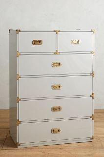 Lacquered Wellington Six-Drawer Dresser