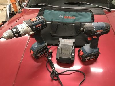 Bosch 18-volt Hammer Drill (HDH181) and Impact Driver (25618) Kit