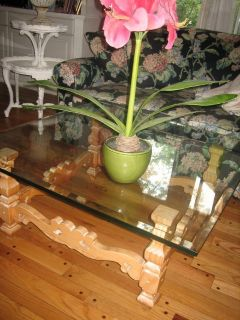 country french pickled pine coffee table