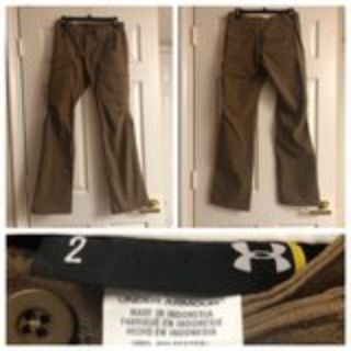Womens Brown Underarmour Tactical Pant Size 2
