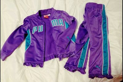 Toddler girl PUMA track suit outfit 24mos