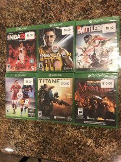 XBOX ONE game lot - preowned