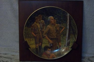 Norman Rockwell Scouting plate