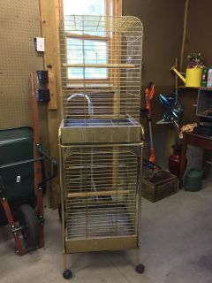 Double stacked bird cage