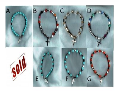 One Decade Stretch Rosary Bracelet