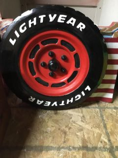 Decor wooden tire from Cars the movie