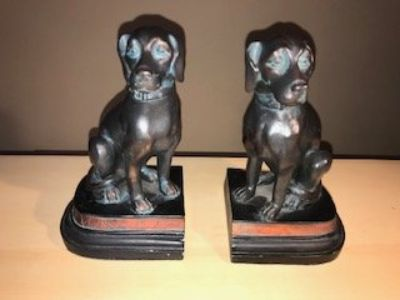 Tall Black Dog Book Ends