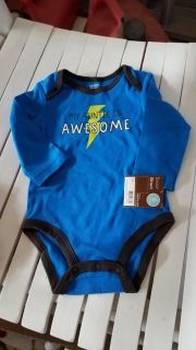 New awesome aunt 6 month onesie