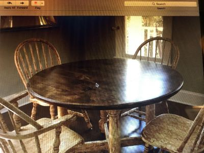 48 Round table & 4 chairs