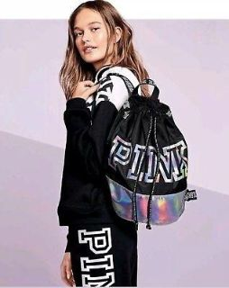 NEW PINK HOLOGRAPHIC BACKPACK