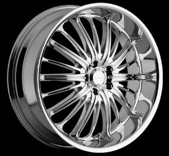 """NEW 24"""" Chrome Rims and Tires"""