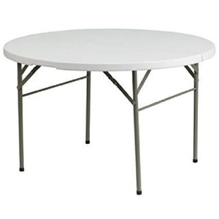 """48"""" Round Plastic Folding Table - Chair Company Larry Hoffman"""