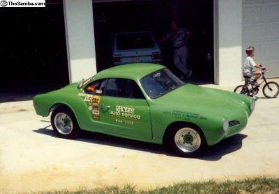 JUST REDUCED 1960 Karman Ghia Drag Race Car