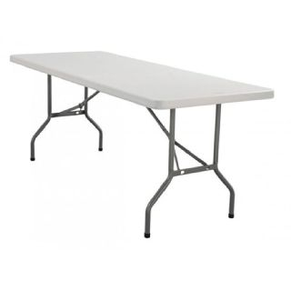 "Larry Hoffman Represents 30 x 72"" Plastic Folding Table"