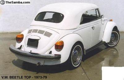 63-79 VW Bug / Beetle Convertible Top New!