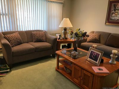 Living room set with love seat and sofa