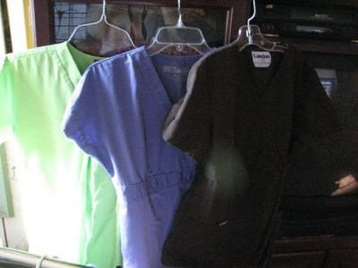 Scrubs, Extra Small, 1 with pants, 2 tops only