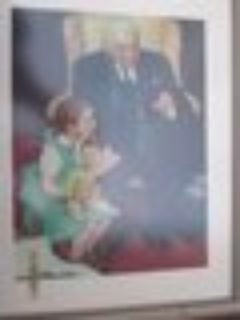 Vintage Rockwell Doctor and Doll 1942 framed print reduced
