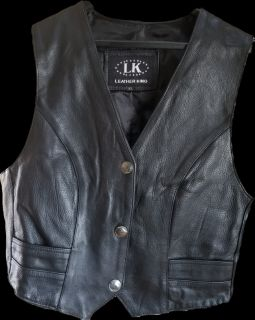 Motorcycle 100% Leather 1.1mm Vest XL