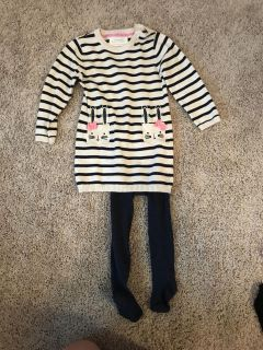 Toddler Sweater Dress with Tights