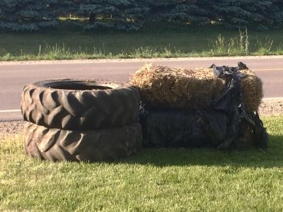 Tractor Tires and Hay FREE