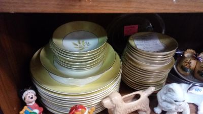 Vintage Wheat Pattern dishes, glasses & cookware