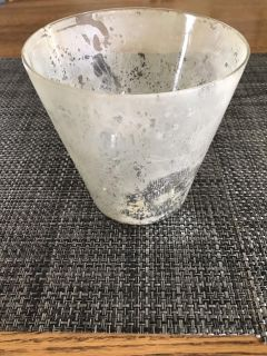 Etched Pottery Barn cache pot