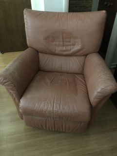 Leather Recliner by Natuzzi