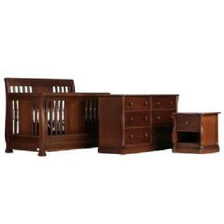 Designer Baby Nursery Furniture CRIB, DBL DRESSER, MIRROR & NIGHTSTAND (new)