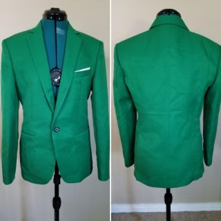 Green two piece suit