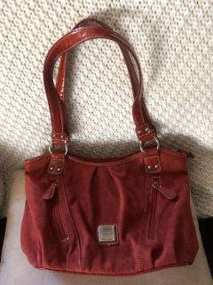 Alfred Dunner Handbag Rust Color Suade/Patton combo