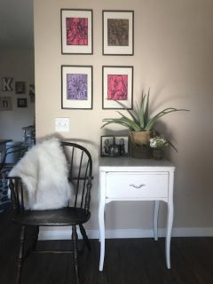 Antique shabby nightstand/side table