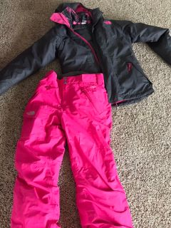 North Face jacket/snow pants set - 10/12
