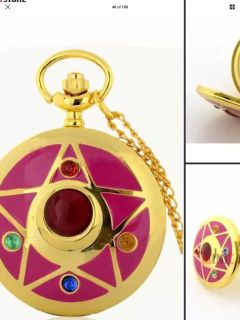 Sailor Moon unisex watch new on necklace. But can be converted to pocket watch