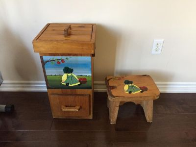 Country charm stool and storage container