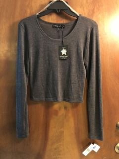 NWT! LIVING DOLL LONG SLEEVE JUNIORS SIZE SMALL