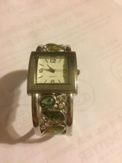 Women s sterling silver, turquoise watch