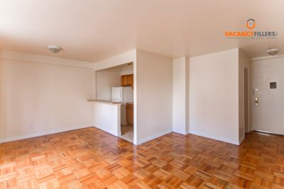 Bright Mount Vernon studio in safe and secure building! Laundry & gym on site!