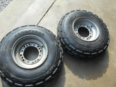 Purchase polaris express sport 300 400 front tires rims wheels 95 96 250 set trail boss motorcycle in Arthur, Illinois, US, for US $149.00