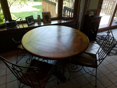 Dinette set with four chairs...pine wood