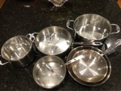 10 pcs Emeril Stainless Steel pots and pans