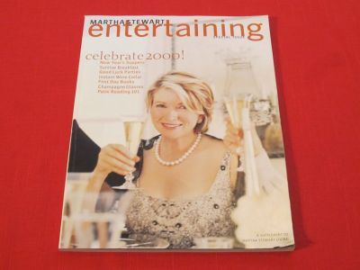 Martha Stewart 1st Ever ENTERTAINING SPECIAL ISSUE: Celebrate 2000! New Year's Suppers, Parties,...