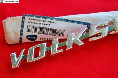 """""""VOLKSWAGEN"""" Rear hood script, Germany"""