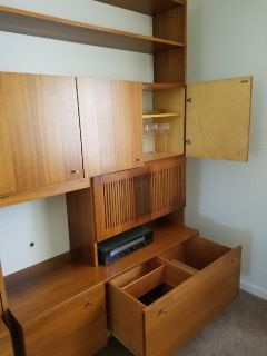 Brazilian Rosewood Bookcase Unit