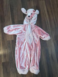 Pink poodle costume size 3-4
