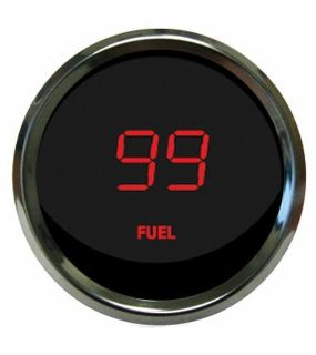 Purchase Universal Digital Fuel Level Gauge Red Chrome Bezel Intellitronix MS9016-R USA motorcycle in North Olmsted, Ohio, US, for US $49.45