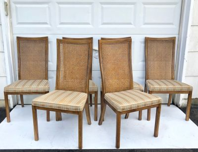 Vintage Cane Back Dining Chairs by Drexel