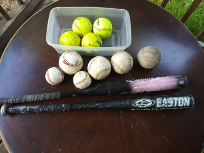 Balls and dollar H Easton bats 15 each