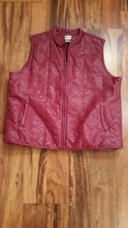 Chico's leather like vest